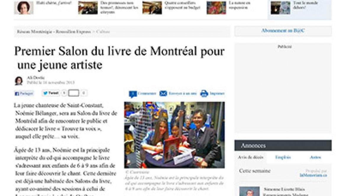 Premier Salon du livre de Montréal pour une jeune artiste - Cul