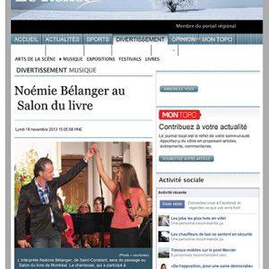 Noémie Bélanger au Salon du livre | Le Reflet