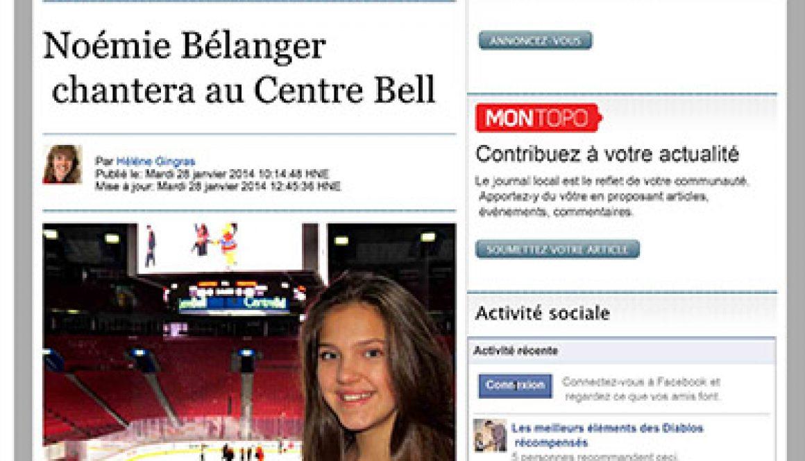 Noémie Bélanger chantera au Centre Bell | Le Reflet